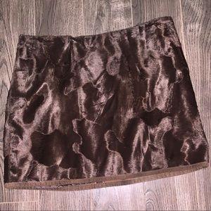 Laundry faux fur skirt